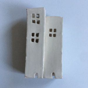 Ceramic House Votive Decorative Candleholder